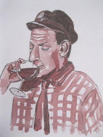 Laurent Bessot Homme qui boit un verre